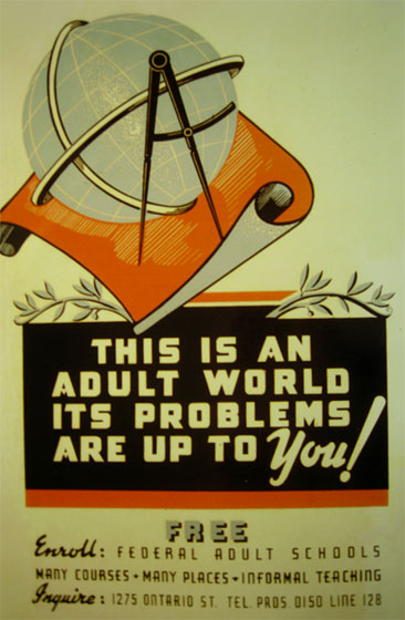 THIS IS AN ADULT WORLD - ITS PROBLEMS ARE UP TO YOU! (poster image)