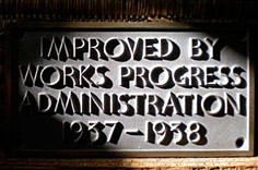 photo of Works Progress Administration plaque